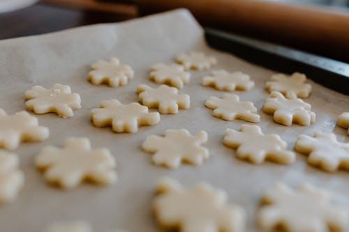 Cookie Doughs on a Sheet Pan