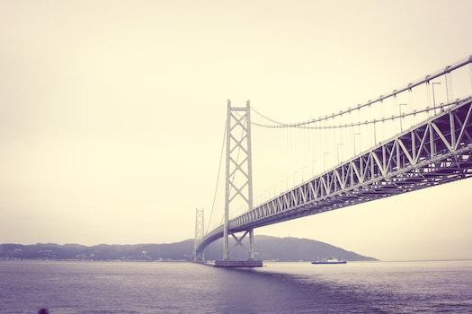 Monochrome Photography of Bridge