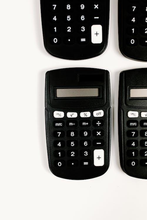 Calculators on White Background