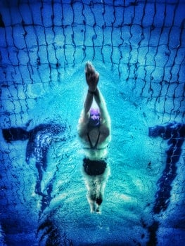 Underwater Photography of Swimmer