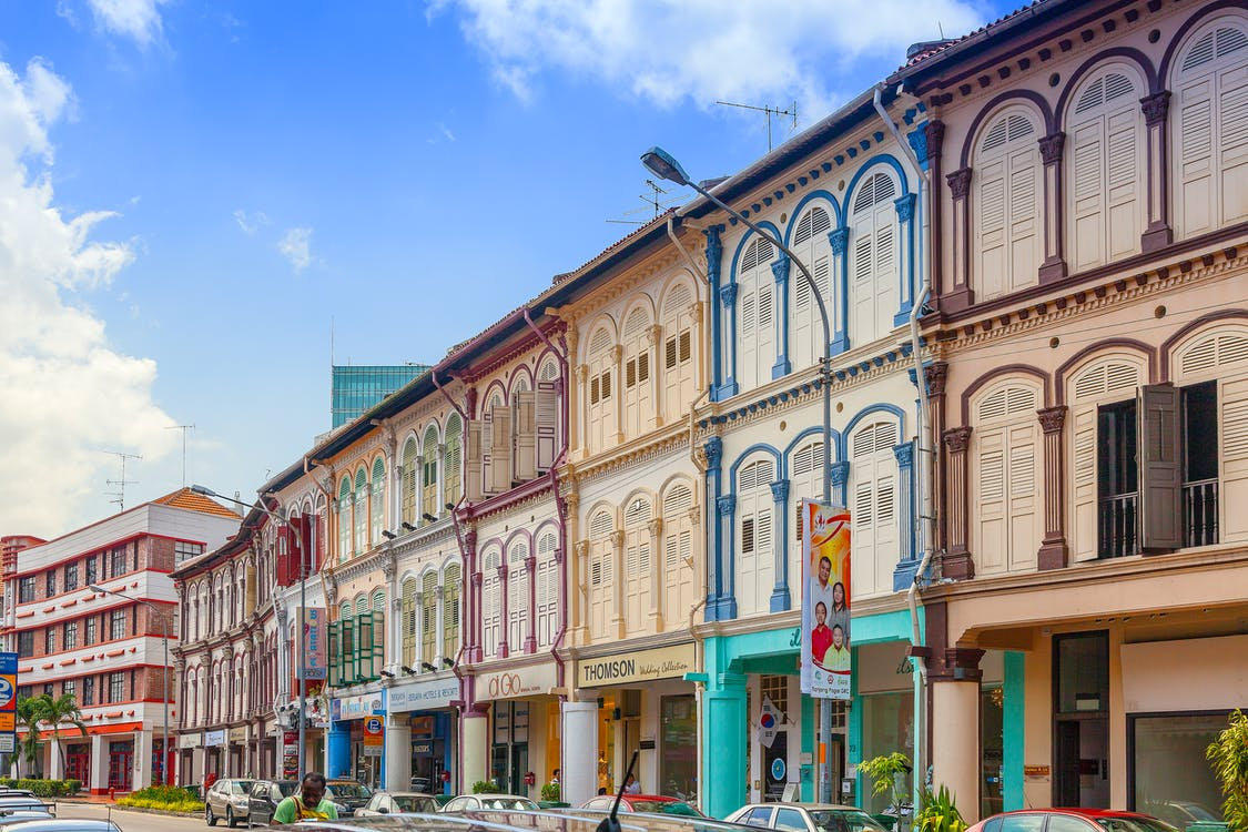 chinatown, Gia tài, hoa văn và màu sắc
