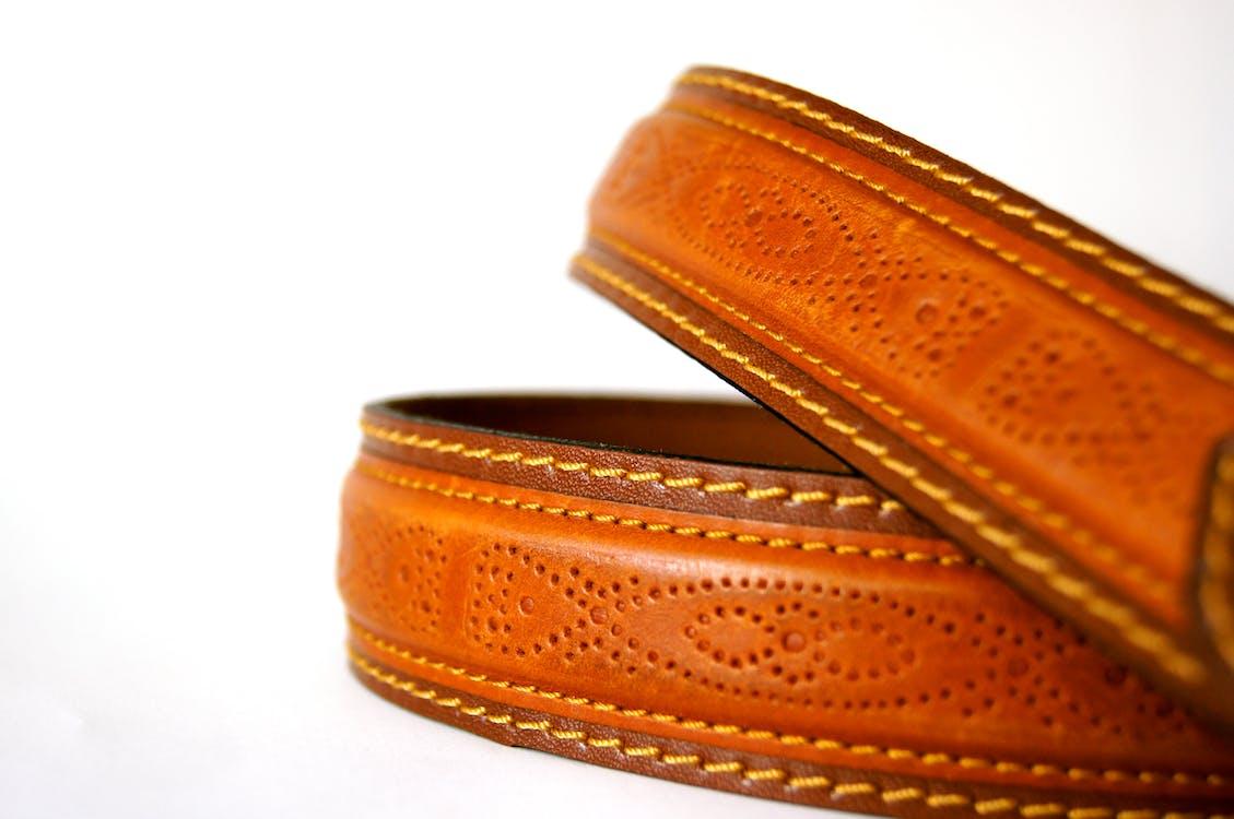 brun, close-up, læder