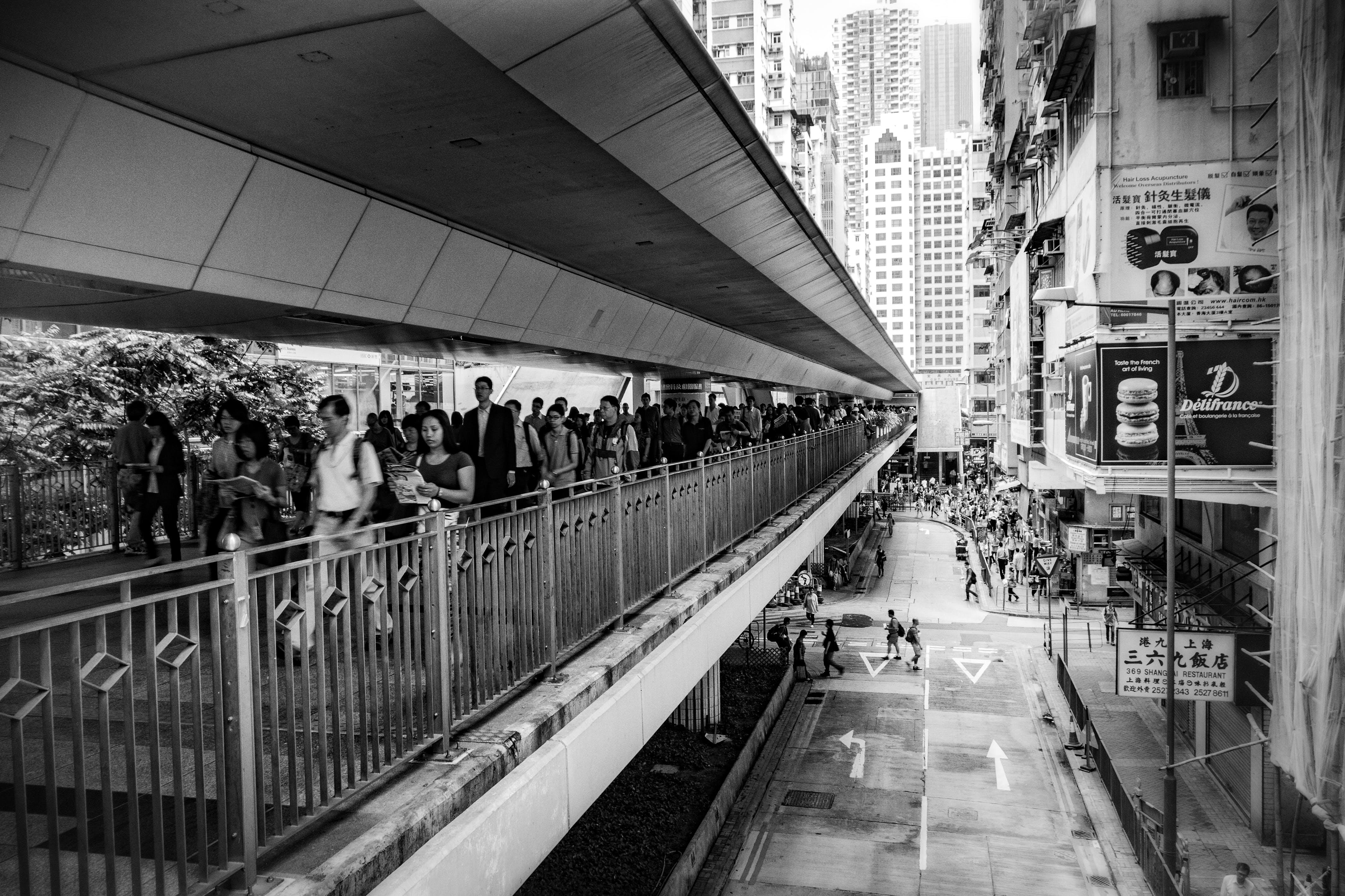 Kostnadsfri bild av arkitektur, butiker, byggnader, folkmassa