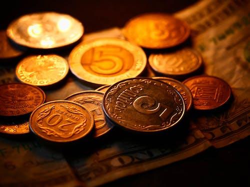 Close-up Shot Coins