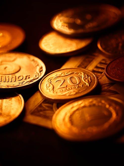 A Close-up Shot of Coins