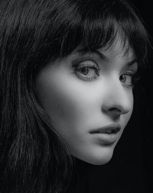 Imagine de stoc gratuită din alb-negru, chip, drăguț