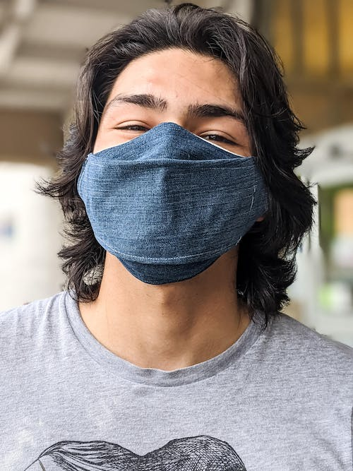 A Man Wearing a Face Mask