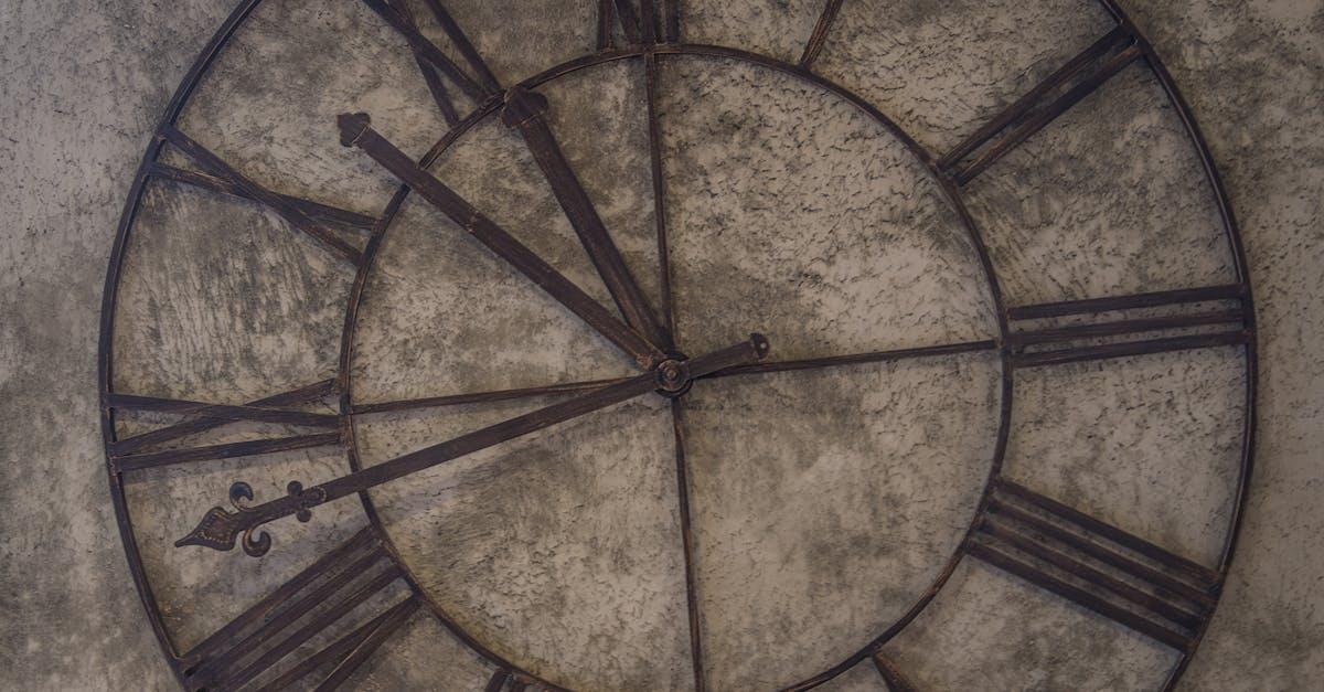 Brown Analog Wall Clock At 11 48 183 Free Stock Photo