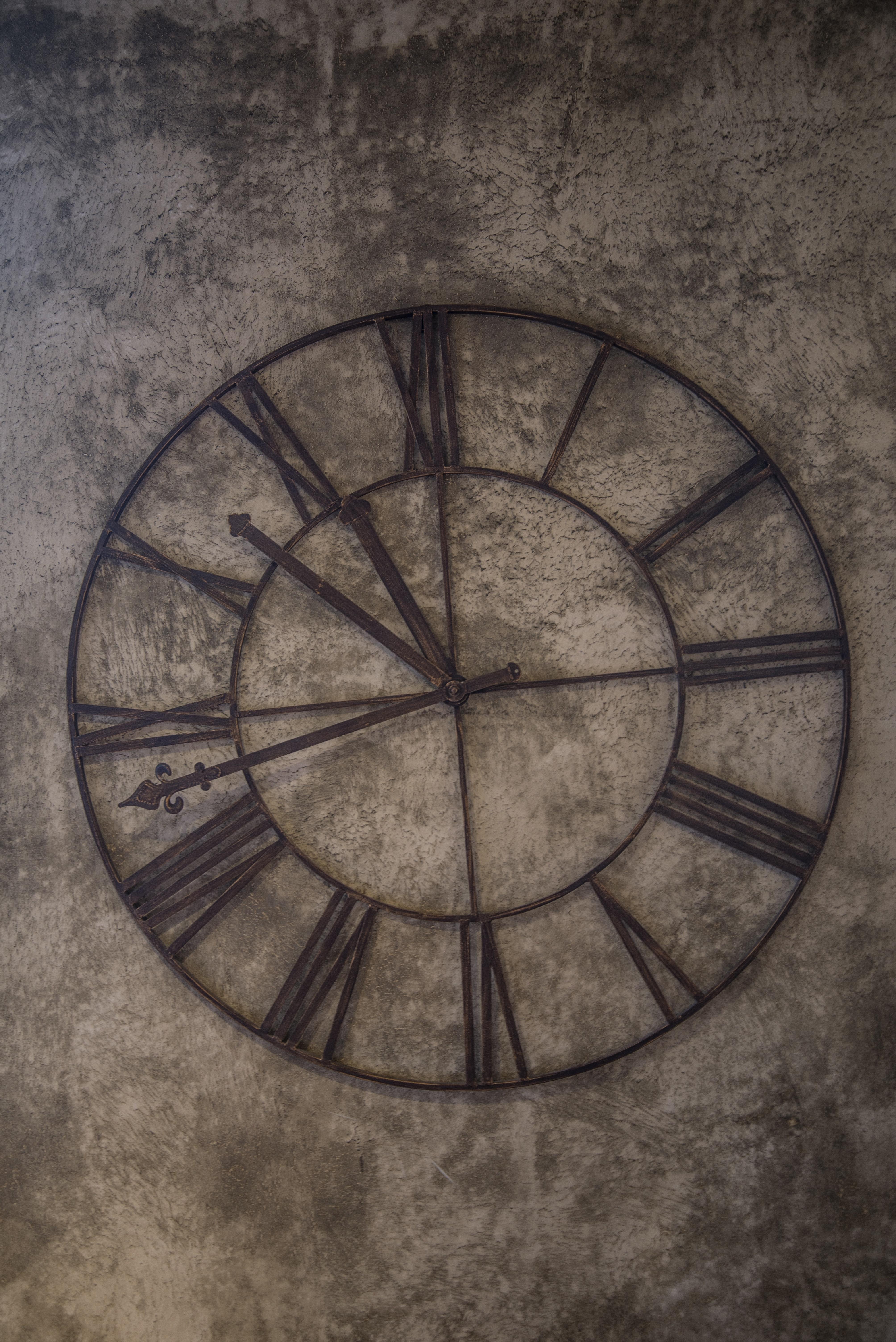 Gray Roman Numeral Clock 183 Free Stock Photo