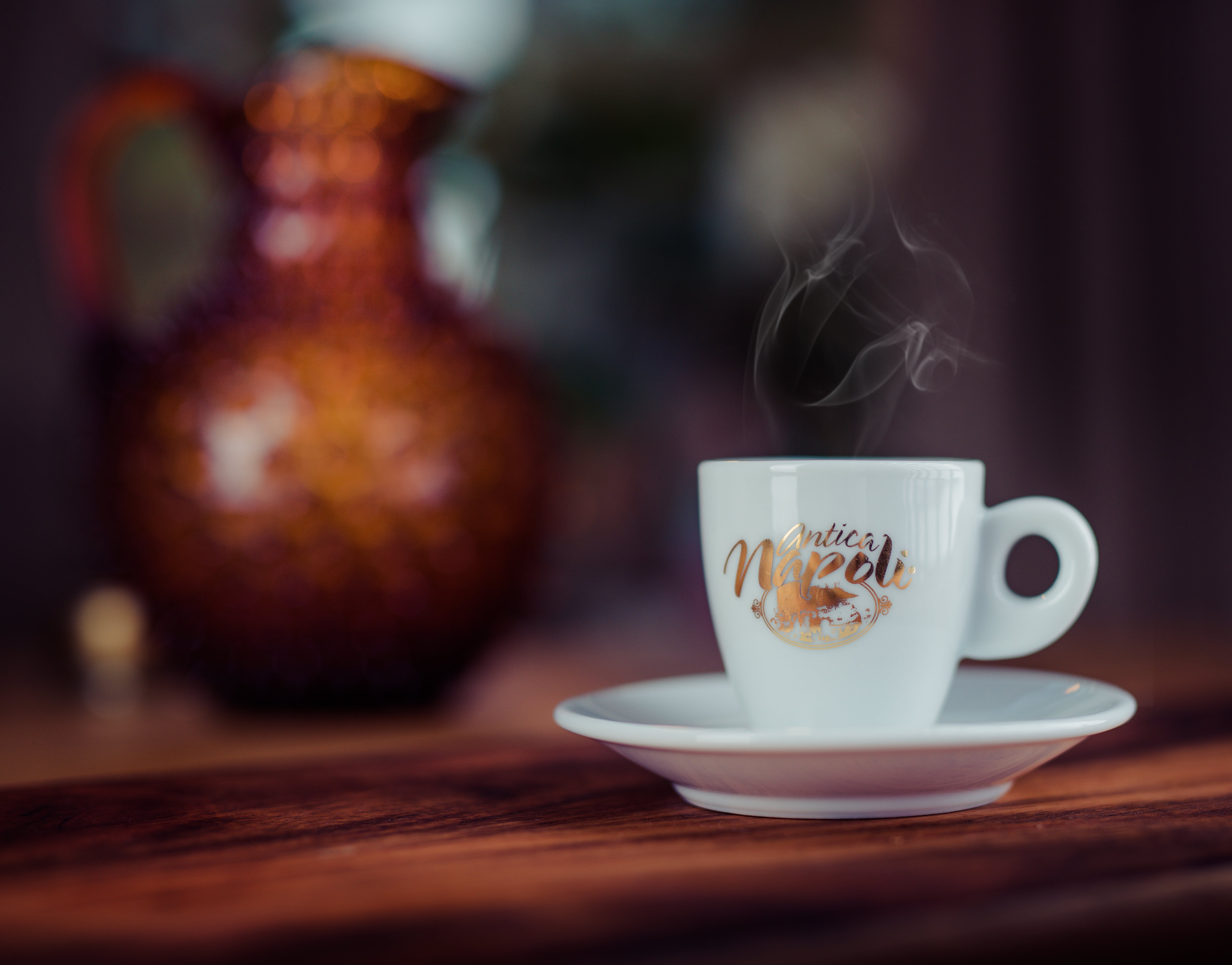 Free stock photo of antica, ceramic cup, coffee, coffee bean