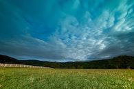 sky, clouds, grass