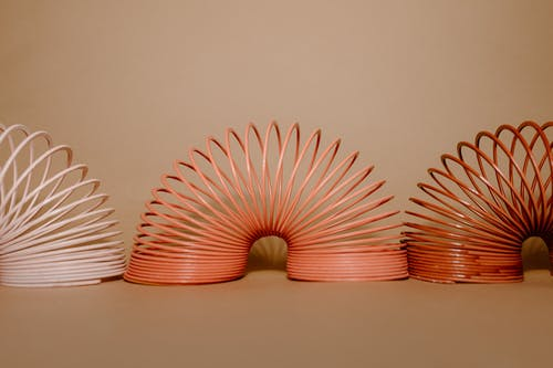 Pink Spiral Plastic Hair Comb