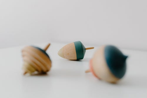 Blue Yellow and Brown Egg Toy