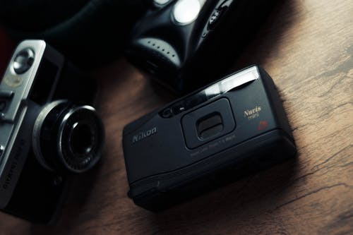 Black Sony Point and Shoot Camera