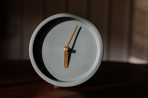 Brown Wooden Round Analog Watch
