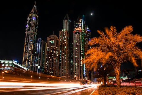 가벼운, 건물, 건축, 고층 건물의 무료 스톡 사진
