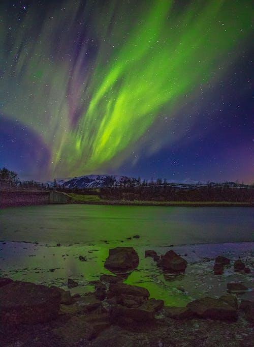Δωρεάν στοκ φωτογραφιών με Aurora, aurora borealis, απόγευμα, αστέρι