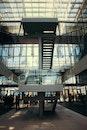 stairs, light, city