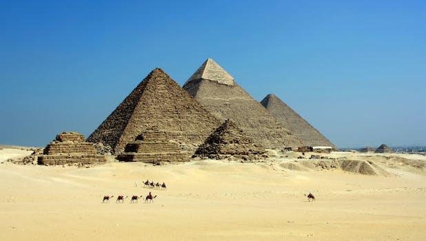 Gray Pyramid on Dessert Under Blue Sky