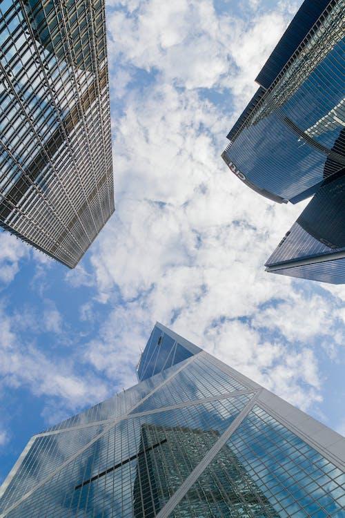 Foto stok gratis awan, Hongkong, kota, langit biru