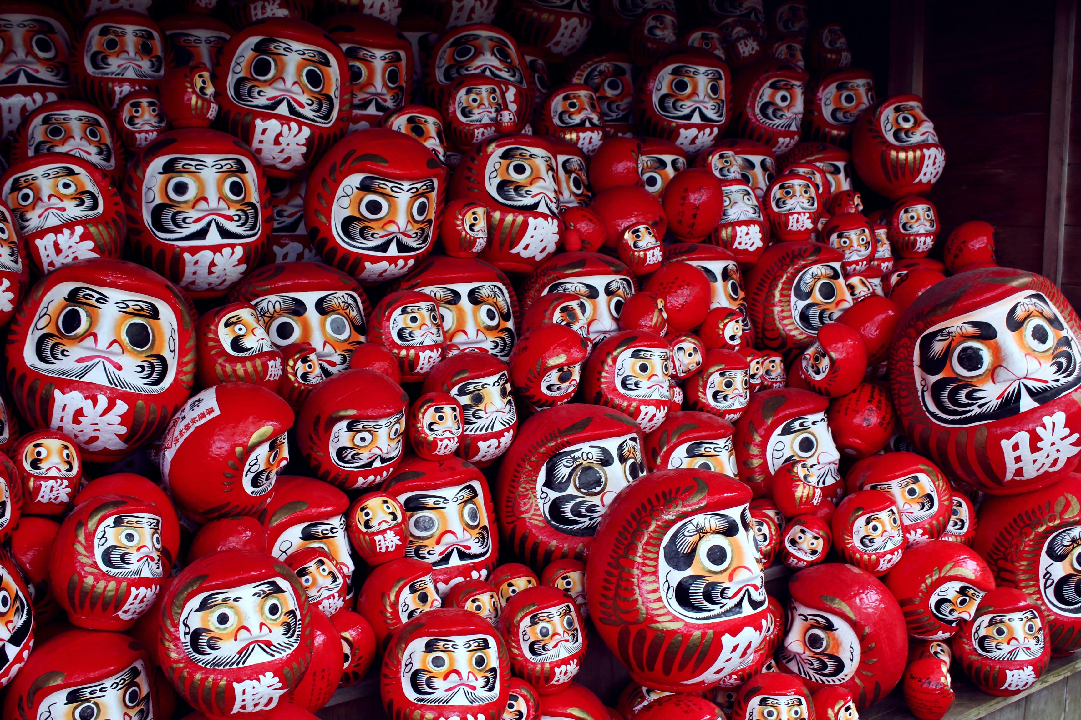 Asya, daruma, din, gelenek içeren Ücretsiz stok fotoğraf