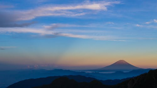 Foto stok gratis gunung, Gunung Fuji, Jepang, langit biru