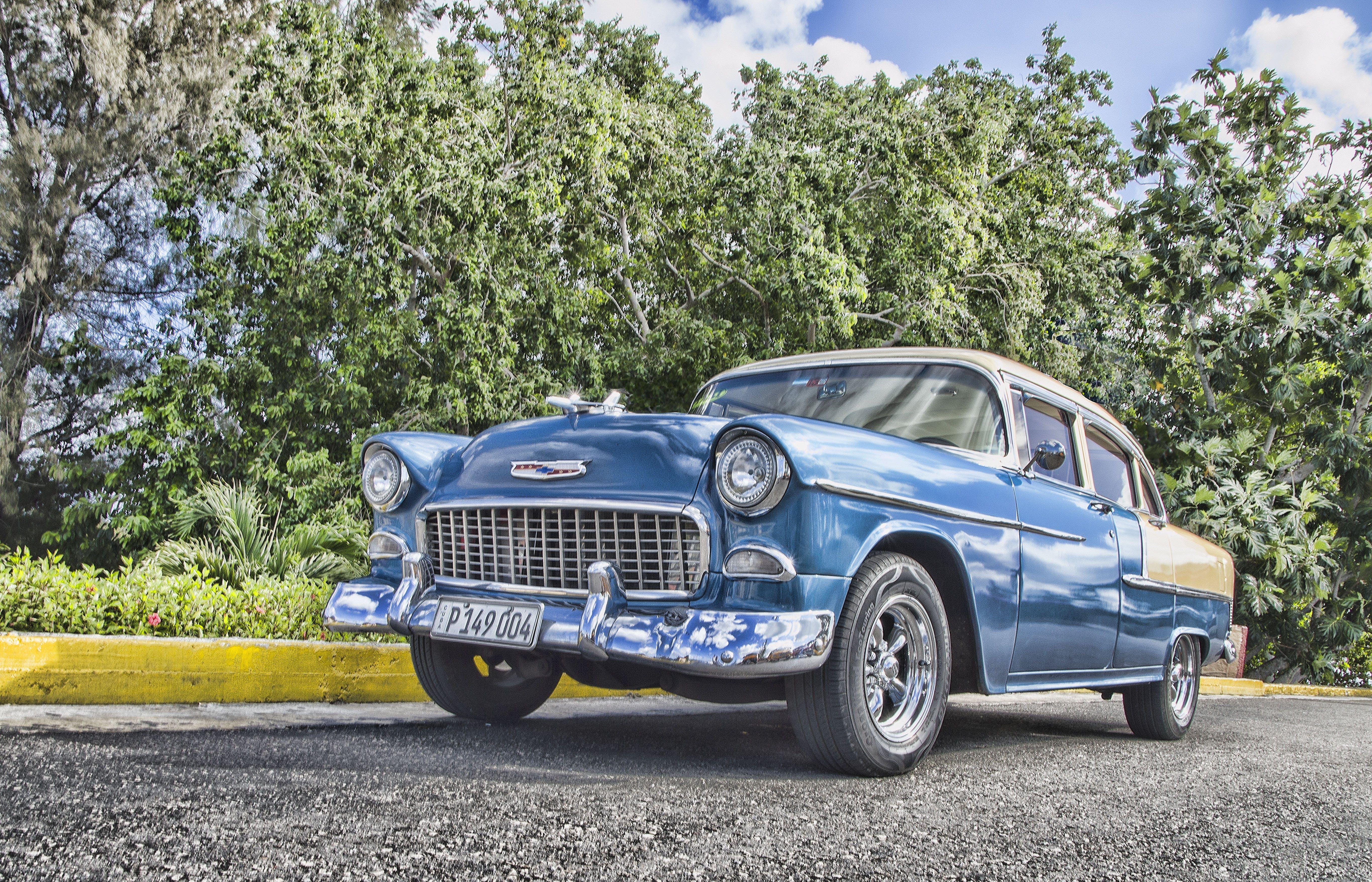 Kostnadsfri bild av asfalt, bil, bil-, blå