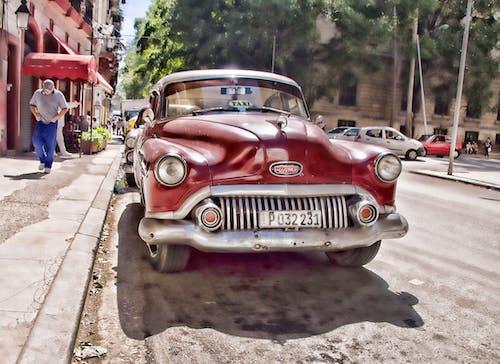 Бесплатное стоковое фото с гавана, живописной, Искусство, красная машина