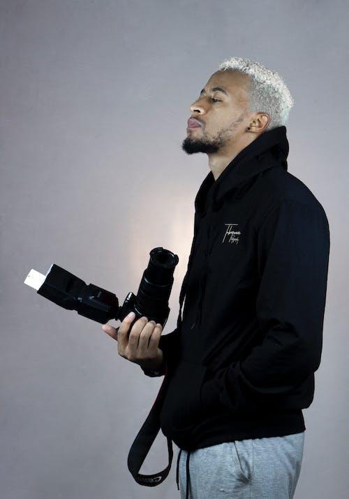 Free stock photo of adult, african man, binoculars