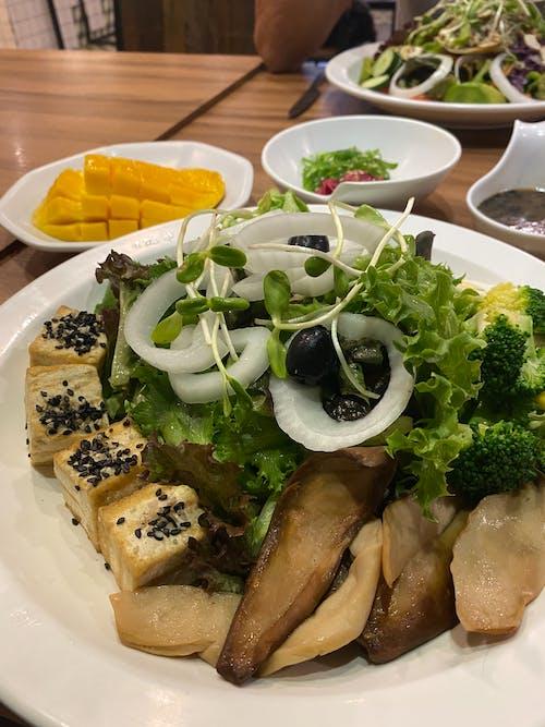 Free stock photo of entree asian cuisine onion, fish, mango