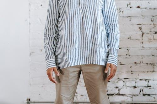 Man Wearing Stripes Long Sleeves