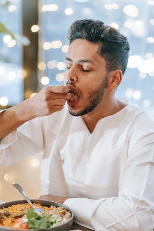 Man Having Dinner