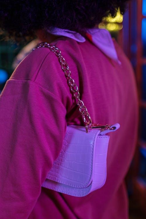 Woman in Purple Long Sleeve Shirt