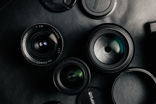Black Camera Lens in Close Up Photography