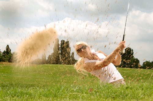 Imagine de stoc gratuită din club de golf, femeie, golf, iarbă