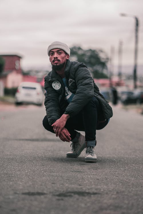 Free stock photo of black jacket, black jeans, blackman