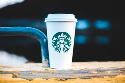 Close-Up Shot of a Starbucks Cup