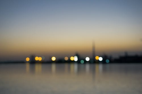 Free stock photo of blur, city night, far, low light
