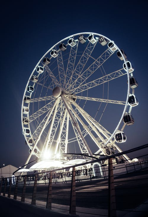 Free stock photo of exclusive, fence, ferris wheel, leisure
