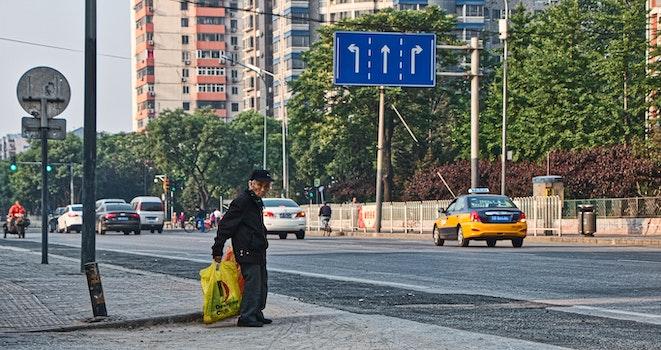 Free stock photo of street, old man
