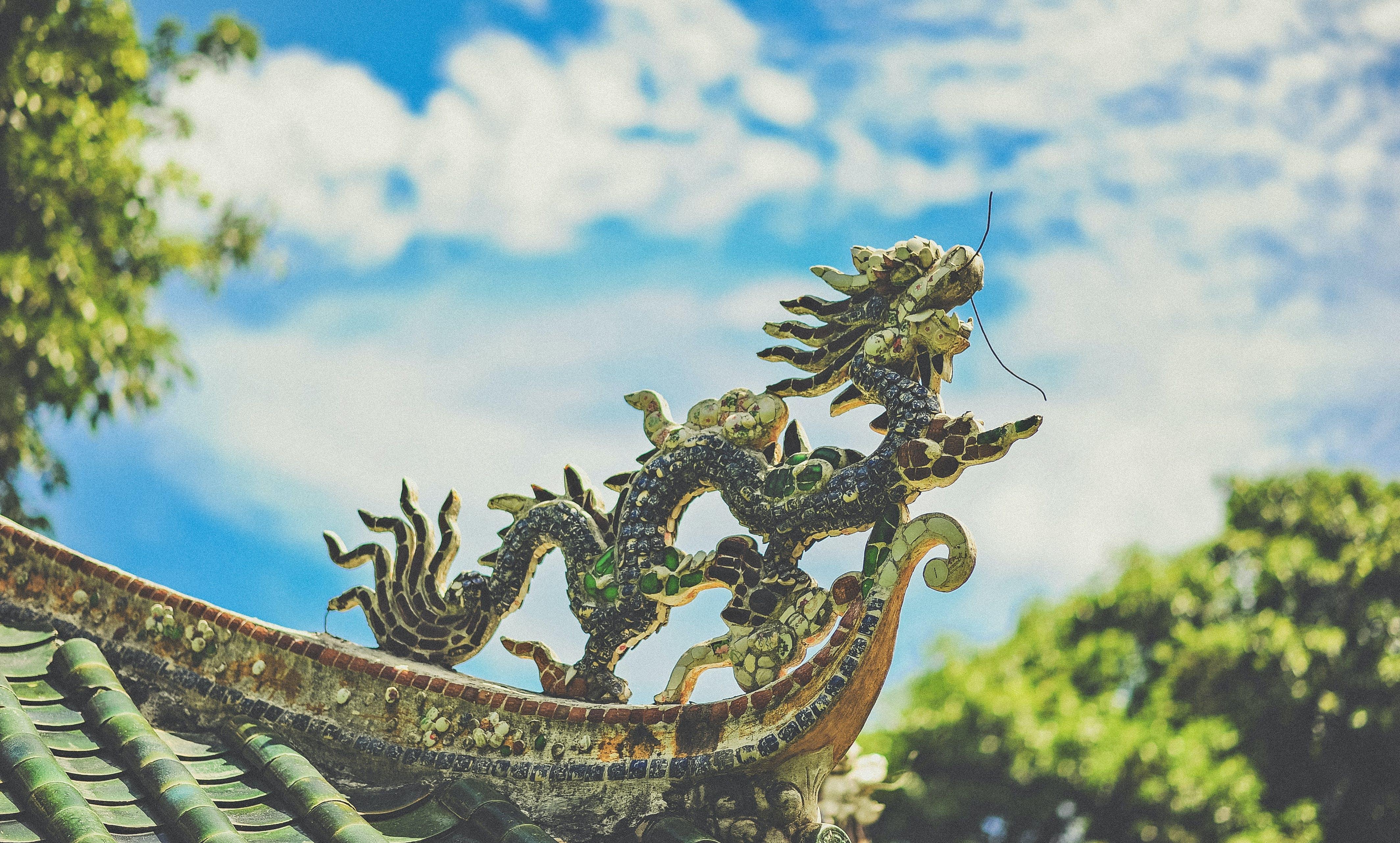 Black Dragon Roof Ornament