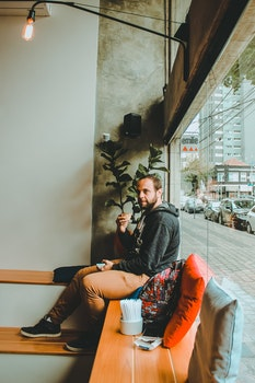 Free stock photo of man, coffee, drinking, boy