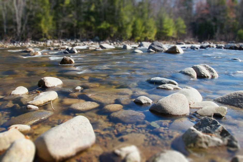 nature, river, rocks