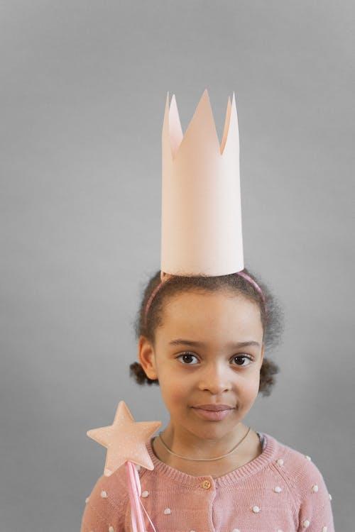 Cute black girl in princess costume