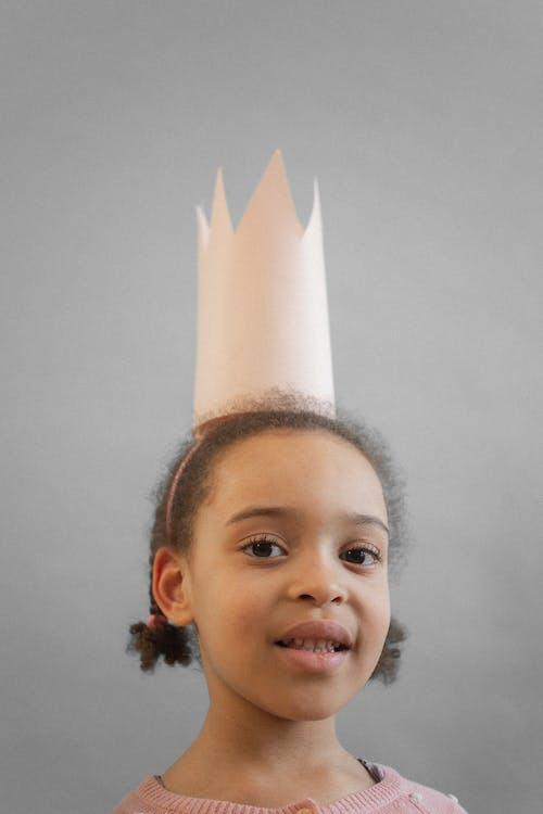 Cute black girl in crown