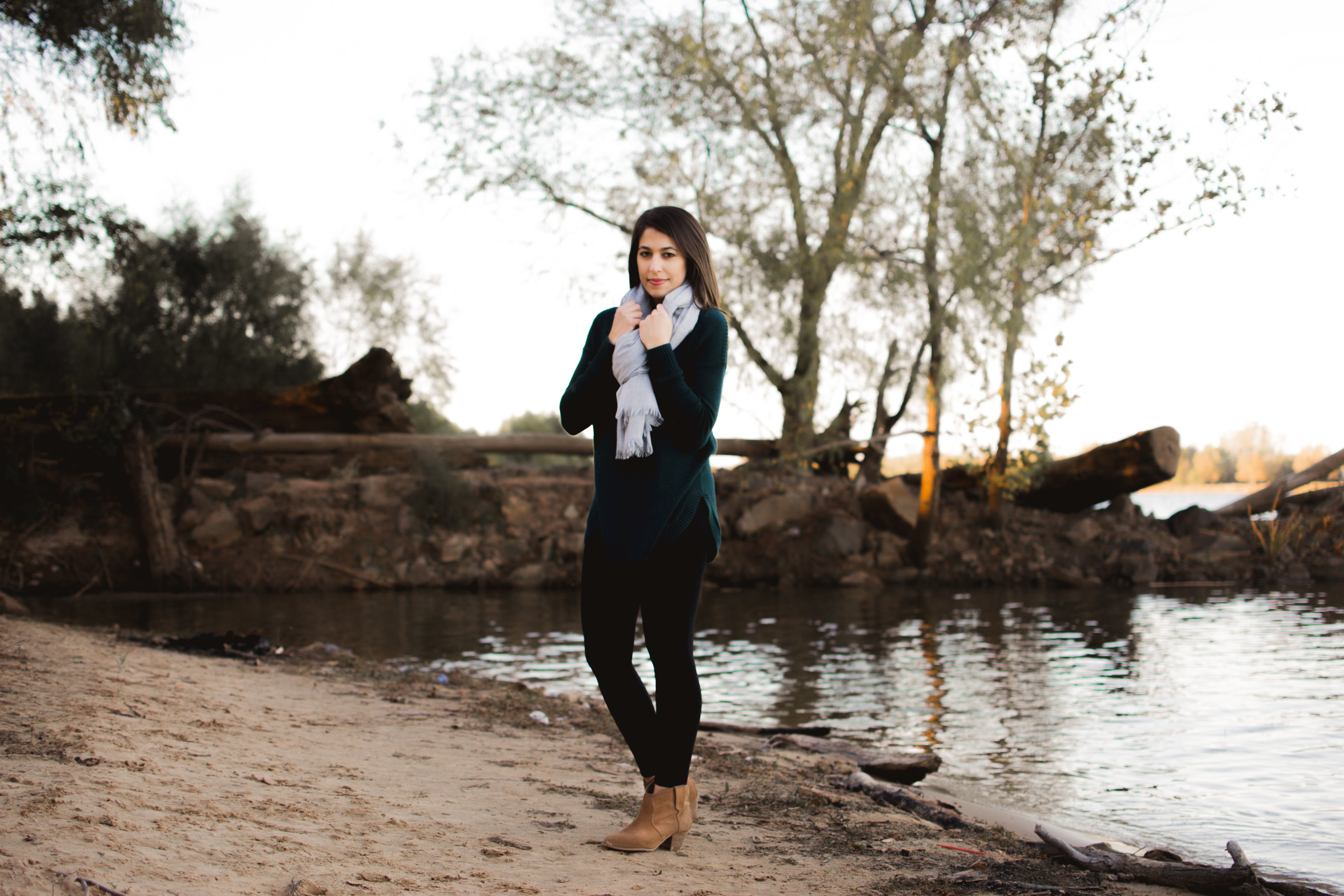Photo of Woman Standing on the Shore
