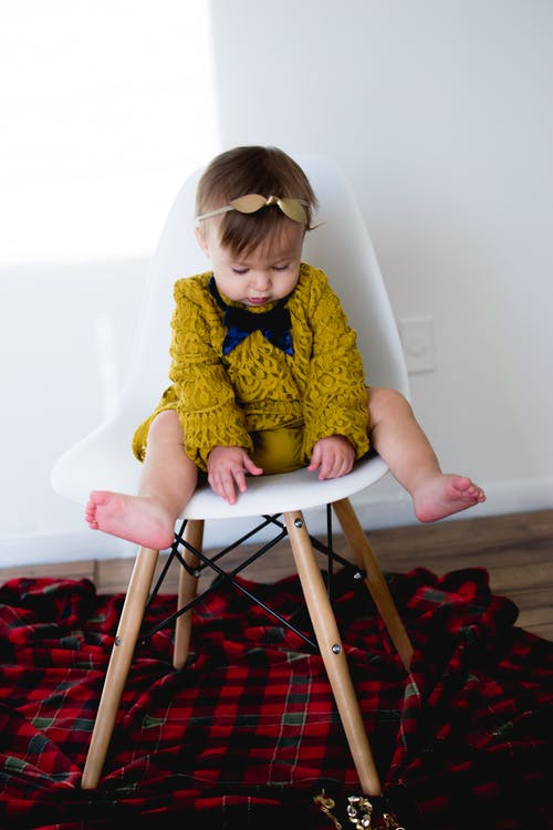 Free stock photo of adults, baby in chair, beautiful
