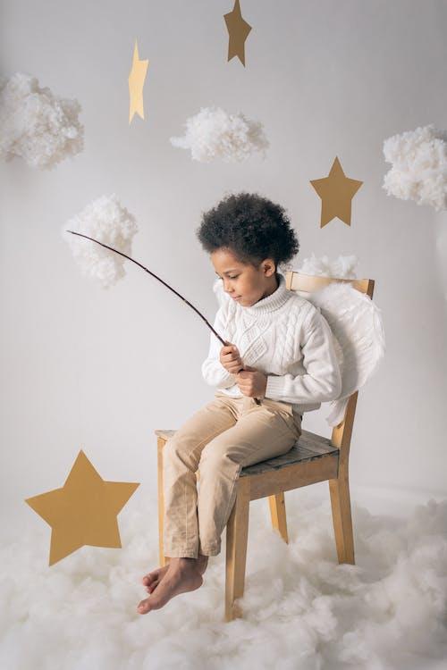 Ingyenes stockfotó afro-amerikai fiú, angyal, aranyos témában