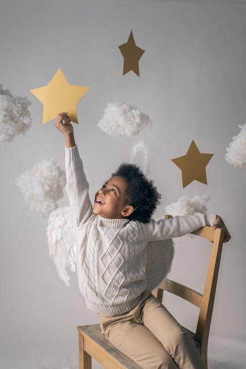 Ingyenes stockfotó afro, afro-amerikai fiú, angyal témában