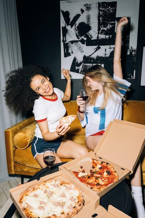 Two Young Women Having Fun
